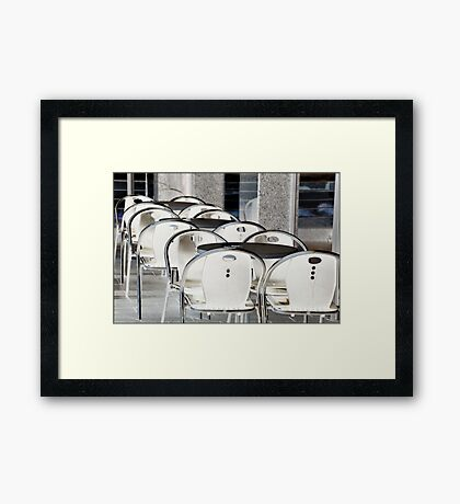Be seated Framed Print