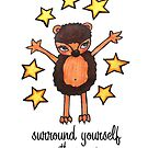 Surround Yourself with Magic: Cute Hedgehog Watercolor Drawing by mellierosetest