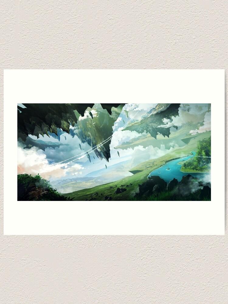 Alternate view of Floating Islands Art Print