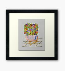 Flowers/24 - Gratitude Saying Framed Print