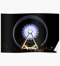 Ferris Wheel Slow Shutter Speed Poster