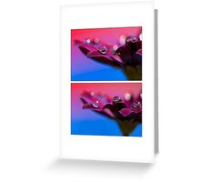 Purple Daisy Dream collage Greeting Card