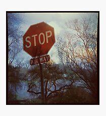 Flood Warning Photographic Print