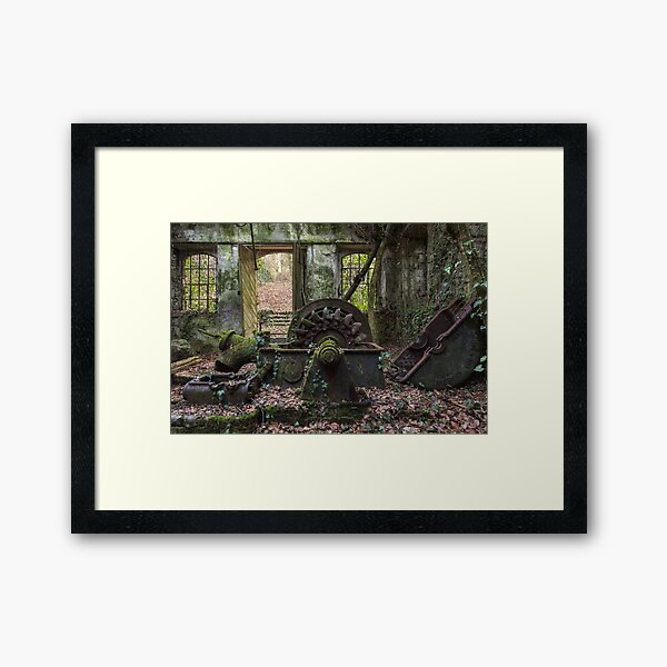 Green energy lost in the wood Framed Art Print