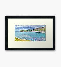 Lulworth Cove - HDR Framed Print