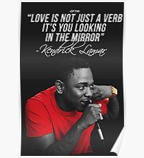Kendrick Lamar Quote Poster
