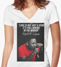 Kendrick Lamar Quote Women's Fitted V-Neck T-Shirt