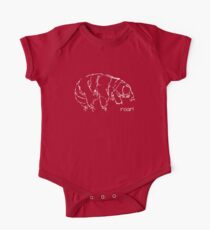 Oh Noes a Water Bear!  Short Sleeve Baby One-Piece
