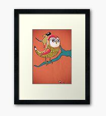 Awful Owly Thriller Framed Print