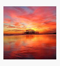 Fire in the Sky Photographic Print