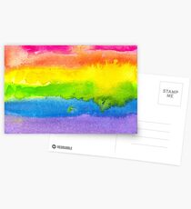 Watercolor Gay Pride Flag Postcards