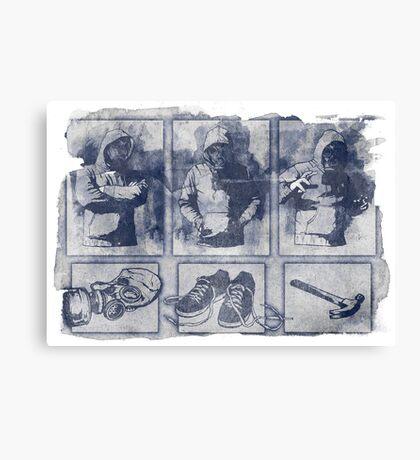 Vigilante Blueprint Canvas Print