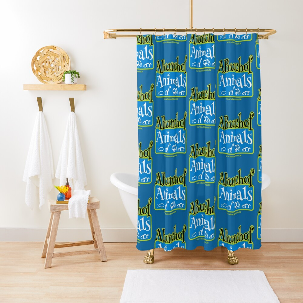 A Bunch of Animals Shower Curtain