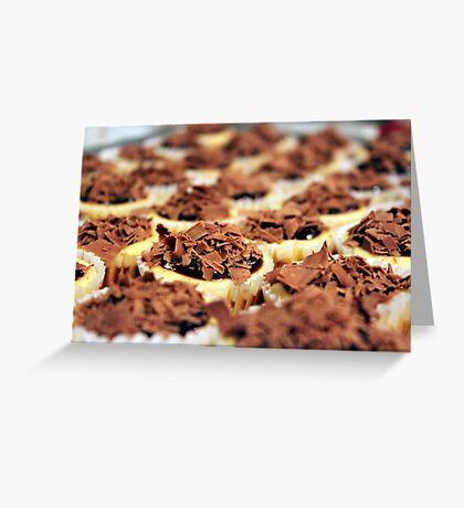 Mini Chocolate Cheesecakes Greeting Card
