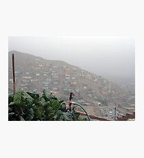 Vegie garden to feed the local kids, Peru Photographic Print