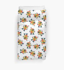 Happy Robot Pattern Duvet Cover
