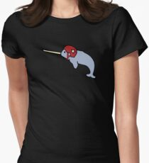 Roller Derby Narwhal Womens Fitted T-Shirt