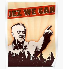Jez wir können - Jeremy Corbyn Poster