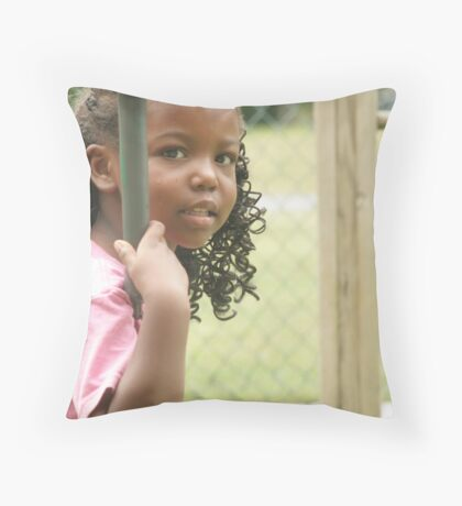 Isn't She a Great Smiler? Throw Pillow