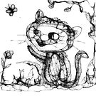 kitty playing wid butterfly by pinks