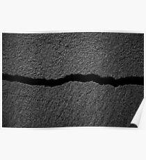 crack. detail, sandbank Poster