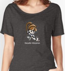 Martial Arts/Karate Girl - Deadly Weapon (gray font) Women's Relaxed Fit T-Shirt