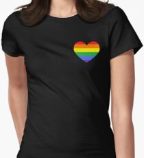 Gay Heart (B) Women's Fitted T-Shirt