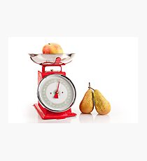 Kitchen red weight scale utensil Photographic Print