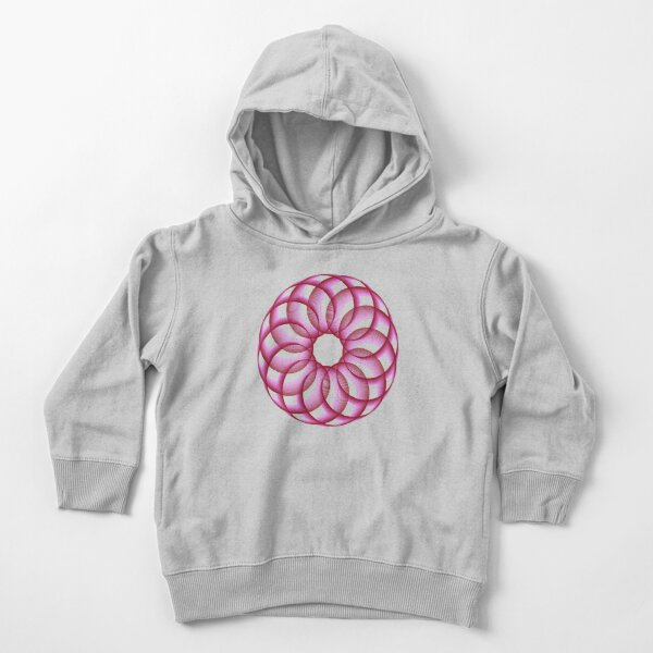 Spirograph with Red Pink Blue Toddler Pullover Hoodie
