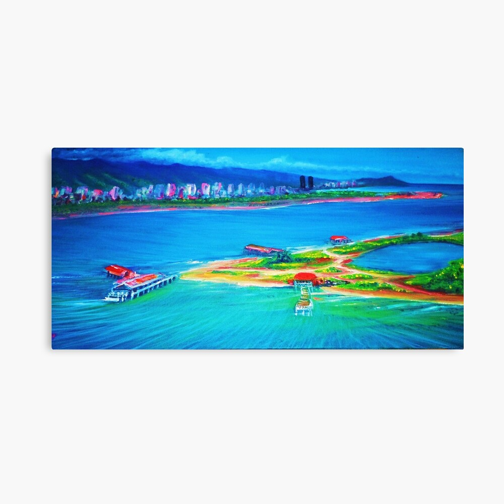 Mokauea island honoluluoahu canvas print