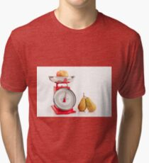 Kitchen red weight scale utensil Tri-blend T-Shirt