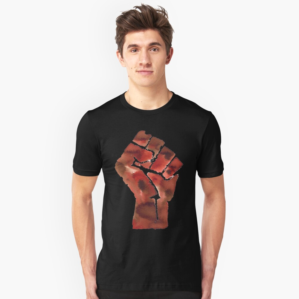 Black Power Fist Unisex T-Shirt Front