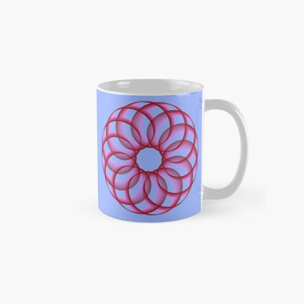 Spirograph with Red Pink Blue Classic Mug