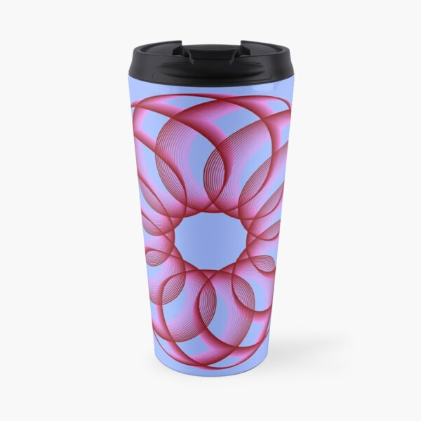 Spirograph with Red Pink Blue Travel Mug