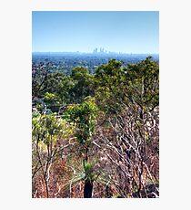 Perth city from Kelmscott hills Photographic Print