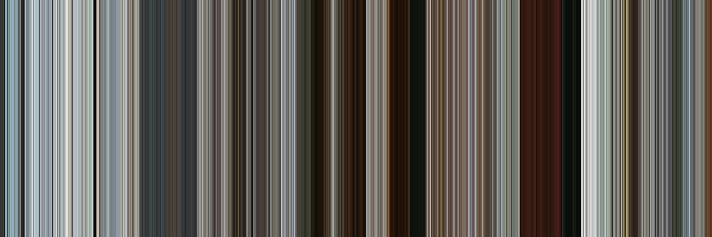 Moviebarcode: Rango (2011) [Simplified Colors] by moviebarcode
