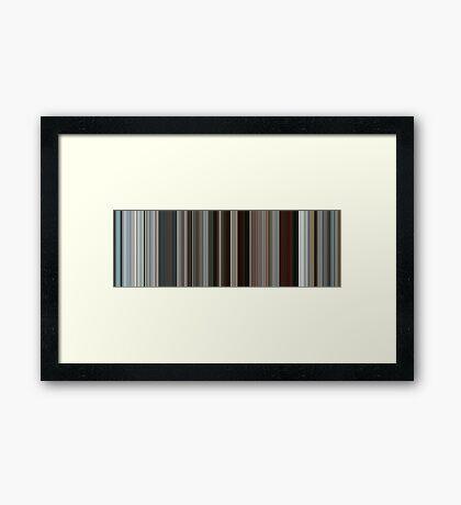 Moviebarcode: Rango (2011) [Simplified Colors] Framed Print