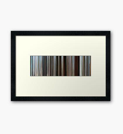 Moviebarcode: Rango (2011) Framed Print