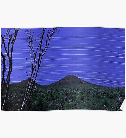 Star Trails - Stirling Ranges Western Australia Poster