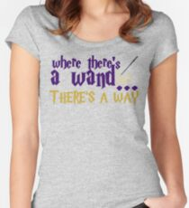 Where there's a wand, there's a way! Women's Fitted Scoop T-Shirt