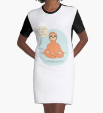 Keep Calm And Be Sloth Graphic T-Shirt Dress