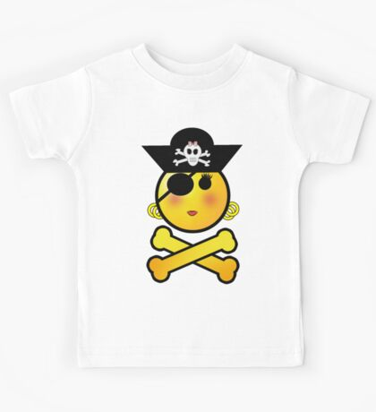 Pirate Emoticon - Girly Kids Clothes