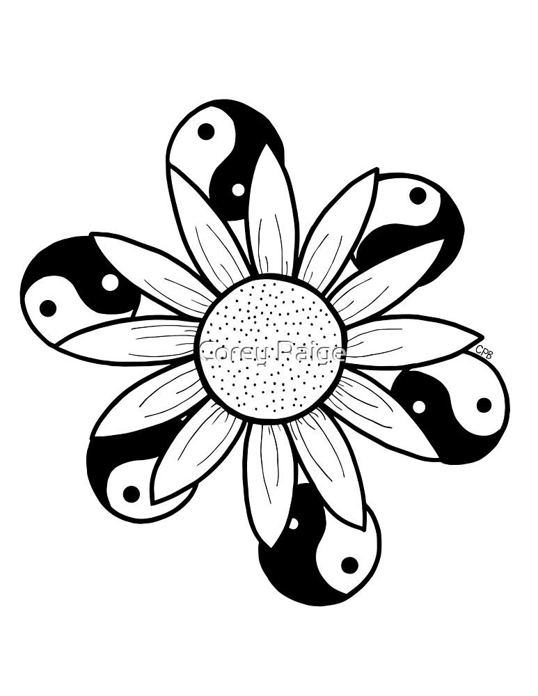 Yin Yang Sunflower by Corey Paige