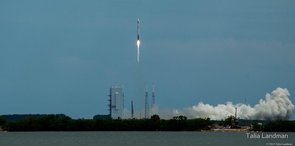 Atlas V Carrying GPSIIF10 by Talia Landman
