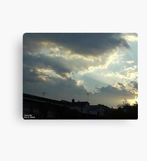 Dieing Storm  Canvas Print