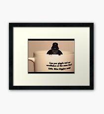 Darth Vader Cuppa Framed Print