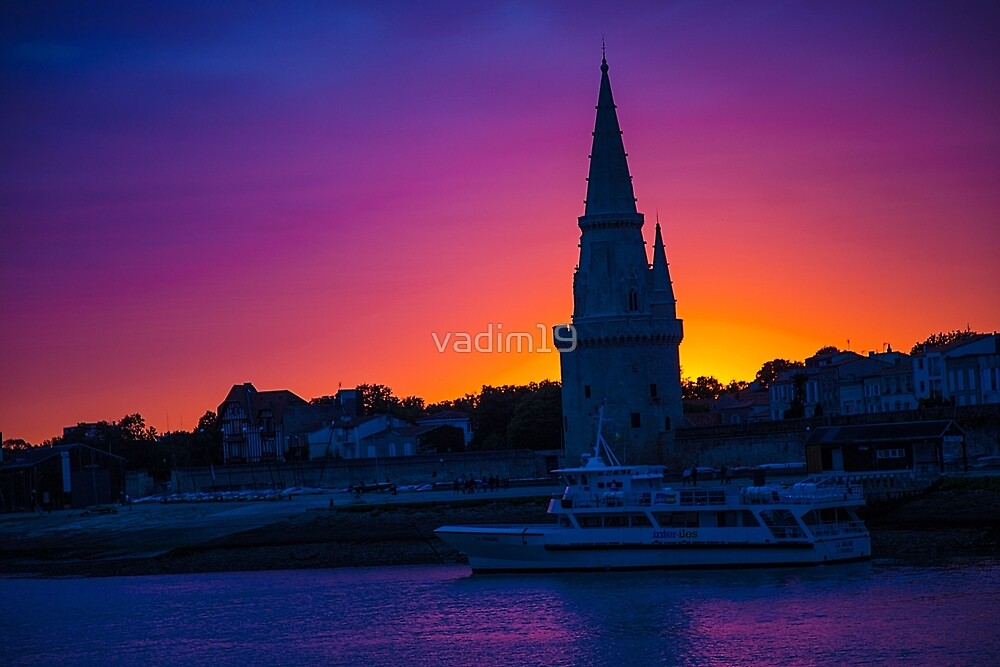 France. La Rochelle. Tower of the Lantern. Sunset. by vadim19