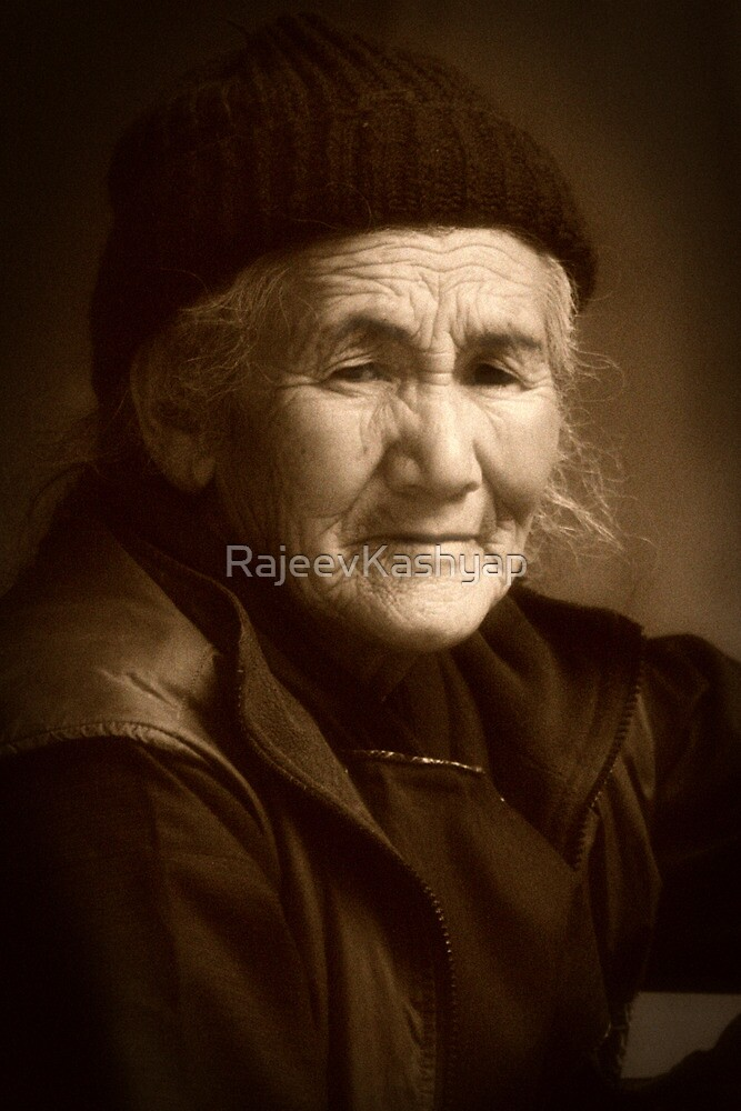 Buddhist Old Women by RajeevKashyap