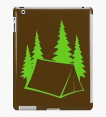 Camp Site - bright green iPad Case/Skin