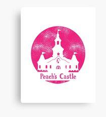 Princess Peach's Castle Super Mario 64 Canvas Print